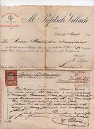 """Austria - Villach - Fattura Della Ditta """" M. Pufitsch """"  Datata  17 Aprile 1901 Con Ricevuta Di Impostazione - (FDC4984) - Austria"""