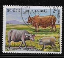 LAOS  COT, # 503, 8th ANNIVERSARY Of The REPUBLIC, FARM ANIMALS    CTO With Gum - Laos