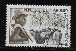 DAHOMEY 1963, COT # 162, Peuhi Herdsman  & Cattles    CTO With Gum - Bénin – Dahomey (1960-...)