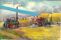 Mannheim H Lanz Fabrik Land Maschinen Lokomobilen. PK Etappen-sanitatsdepot. Fabricant  Machine Agricole Moissonneuse - Mannheim