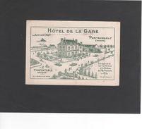 Entete HOTEL DE LA GARE -Note De Restaurant Et Chambre - PONTAUBAULT (Manche)  (REF 435) - Publicités
