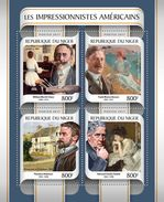 NIGER 2017 - American Impressionists. Official Issue - Impressionisme