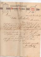 """Boemia - Klattau -  Lettera Della Ditta """" Benedikt Sachsel """" Datata 23 Novembre 1897 - (FDC4988) - Fatture & Documenti Commerciali"""