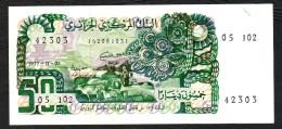 ALGERIA (BANQUE CENTRALE D´ALGERIE) :  50 Dinars - 1977 - P130  - UNC - Algeria