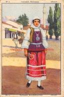 Finor Meurisse - Costumes Nationeaux - Nationale Kleederdrachten - Nr.2 - Albanie - Chocolat