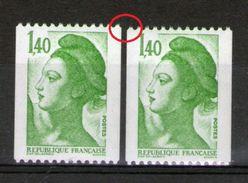N°2191** Roulette_une Petite-une Grande ?? - 1982-90 Liberté (Gandon)