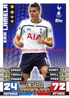 Topps Premier League 2014-2015 Nr: 320. Erik Lamela (Tottenham Hotspur) - Match Attax - Trading Cards