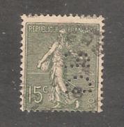 Perforé/perfin/lochung France No 130 DR D. Richou Et Fils - France
