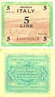 ITALIE - ITALY - 5 LIRE 1943 - Pick M12a SUP+ (XF+) - Unclassified