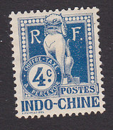Indo-China, Scott #J6, Mint Hinged, Dragon, Issued 1908 - Indochina (1889-1945)