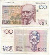 Bélgica - Belgium 100 Francs 1982-94 Pick 142.a.5 Ref 1329 - [ 2] 1831-... : Reino De Bélgica