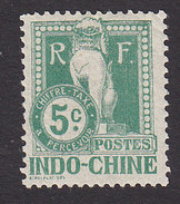 Indo-China, Scott #J7, Mint Hinged, Dragon, Issued 1908 - Indochine (1889-1945)