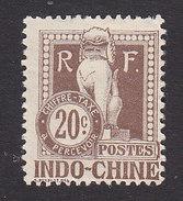 Indo-China, Scott #J10, Mint Hinged, Dragon, Issued 1908 - Indochina (1889-1945)
