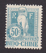 Indo-China, Scott #J13, Mint Hinged, Dragon, Issued 1908 - Indochine (1889-1945)