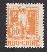 Indo-China, Scott #J14, Mint Hinged, Dragon, Issued 1908 - Indochina (1889-1945)