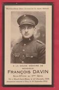 Militaire - François Davin, Sous Officier Au 3me Génie, Né à Mesnil-St-Blaise En 1908 Et Décédé Le 14 Sept 1932 - Décès