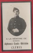Militaire - Alphonse-Louis-Ghislain Cléris , Né à Seilles Le 19 Fée. 1913 Et Décédé à Châtelet Le 31 Juillet 1934 - Décès