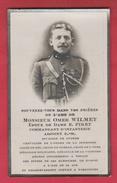 Militaire - Omer Wilmet, Commandant D'Infanterie , Décédé à Wellin Le 27 Octobre 1935 - Décès