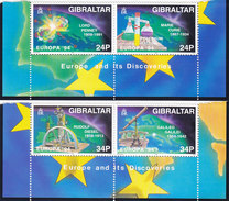 Gibraltar Europa 1994,Discoveries 4 Stamps -MNH Cpl.set . Nice Topical Set- Red. Price - SKRILL PAY. ONLY - Gibraltar
