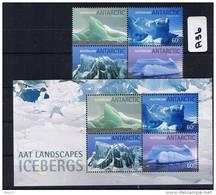 AAT 2011 Icebergs 4 Values & M/S MUH    A36 - Australian Antarctic Territory (AAT)