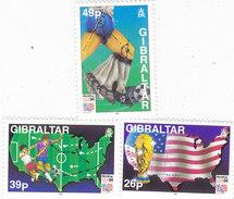 Gibraltar 1994 World Cup USA 3v.compl.set MNH - Nice Topical Set Red. Price - SKRILL PAY. ONLY - Gibraltar