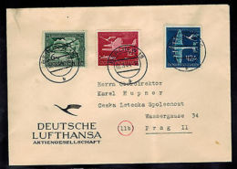 1944 Berlin Germany Lufthansa Cover To Prague - Germany