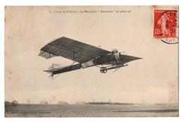 """AVION . CAMP DE CHÂLONS . LE MONOPLAN """" ANTOINETTE """" EN PLEIN VOL - Réf. N°3209 - - Aviateurs"""