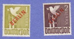 BER SC #9N33-34 MNH 1948-9 Definitives W/red Overprint, CV ~$575.00 - [5] Berlin