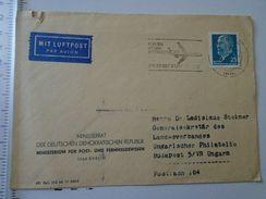 D151056 Germany  Deutschland - Cover - DDR - Minsterrat Der DDR Min.Für Post Und Fernmeldwesen -Interflug 1970 - Briefe U. Dokumente
