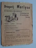 Zegelboekje Drogerij MARLYSE ( Simins-Gijzels ) St. KATELIJNE-WAVER - Anno 19?? Druk. Lutte Genappe ( Zie Foto's) ! - Cachets Généralité