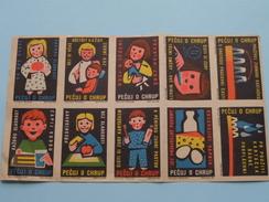 LOT ( Sluitzegels Timbres-Vignettes Picture Stamps Verschlussmarken ) !! - Tchéquie