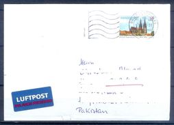 D444- Postal Used Cover Post From Germany To Pakistan. Building. - Germany