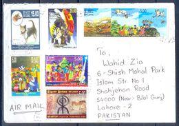 D445- Postal Used Cover. Posted From Sri Lanka To Pakistan. Birds. Animals. Dog. Christmas. Plants. Tree. - Sri Lanka (Ceylon) (1948-...)