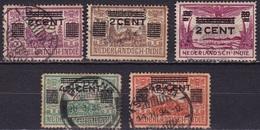 Ned. Indië 1934 Opruimingsuitgifte Gestempelde Serie NVPH 211 / 215 - Indes Néerlandaises