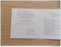 Doodsprentje Albert Depoorter Avekapelle 9/11/1914 Veurne 12/4/2004 ( Maria Louwagie) - Religión & Esoterismo