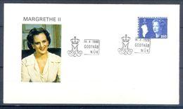 D466- FDC Of USA Year 1980. Margrethe II. - United States