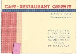 """Val-  Espagne      Cpa  PUB """"   PALMA De  MALLORCA  Café - Palma De Mallorca"""