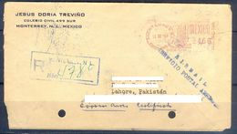 D472- Old & Rare Postal Used Cover. Posted From Mexico To Pakistan. - Mexico