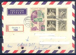 D474- Old & Rare Postal Used Cover. Posted From Czechoslovakia To Pakistan. Space. - Czechoslovakia