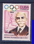 CUBA 1984 CIO-PIERRE DE COUBERTIN   YVERT N°2557  NEUF MNH** - Jeux Olympiques