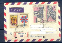 D475- Old & Rare Postal Used Cover. Posted From Czechoslovakia To Pakistan. Space. - Czechoslovakia