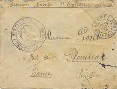 """WWI-1914- Env. Avec  Cad De Nouméa / Nelle Calédonie + """" Division Navales D´Extrème Orient """" - Briefe U. Dokumente"""