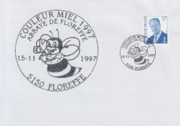 Enveloppe (1997-11-15, 5150 Floreffe) - Une Abeille - 01 - Poststempels/ Marcofilie