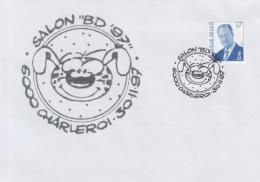 Enveloppe (1997-11-30, 6000 Charleroi) - Cubitus ( BD ) - 03 - Marcofilia