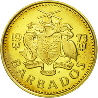 Barbados, 5 Cents, 1973, Franklin Mint, BE FDC, Laiton, KM:11 - Barbades