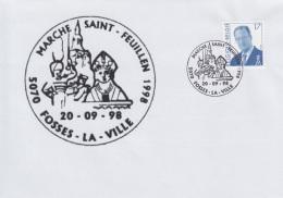 Enveloppe (1998-09-20, 5070 Fosse-la-Ville) - Marche Saint-Feuillen - 04 - Poststempels/ Marcofilie