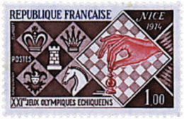 Ref. 30678 * NEW *  - FRANCE . 1974. 21st CHESS OLYMPIAD IN NICE. 21 OLIMPIADA DE AJEDREZ EN NIZA - France