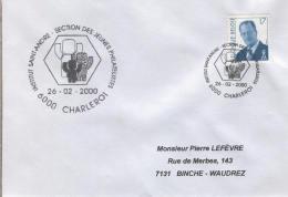 Enveloppe (2000-02-26, 6000 Charleroi) - Logo De L'Institut Saint-André - PL - Poststempel