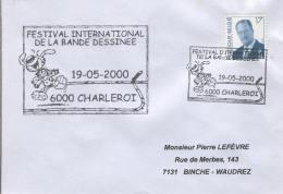 Enveloppe (2000-05-19, 6000 Charleroi) - Festival De La BD, Marsupilami - PL - Poststempel