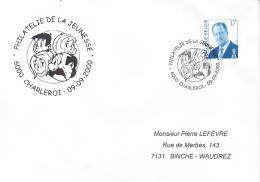 Enveloppe (2000-09-09, 6000 Charleroi) - Quivoila ( BD ) - PL - Marcofilia